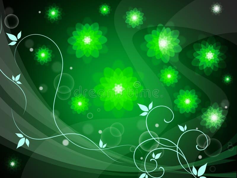 Tło Kwiecisty Reprezentuje kwiaciarni tło I tła royalty ilustracja