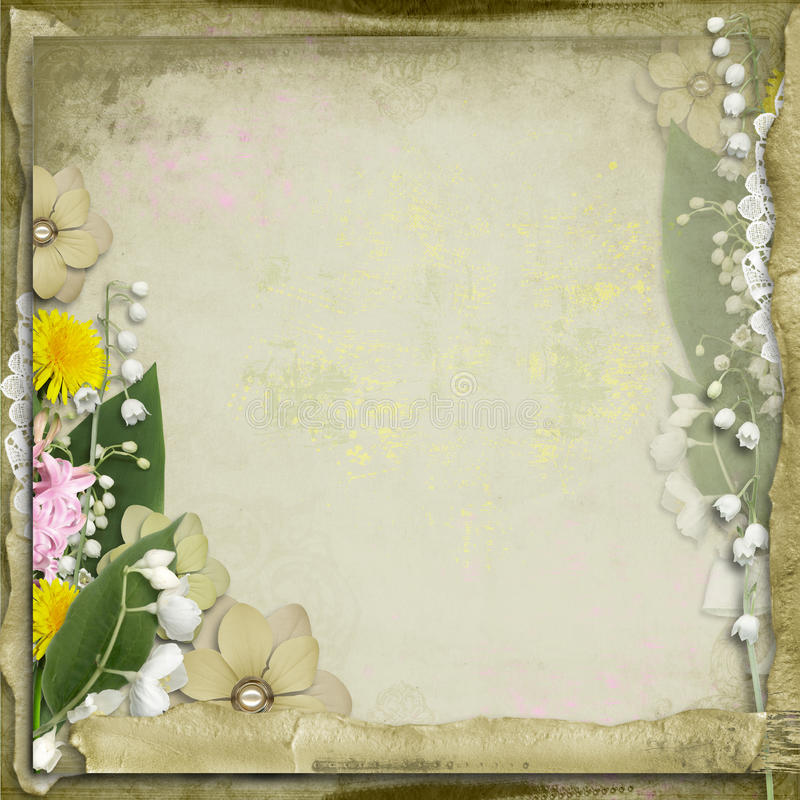 tło kwitnie wiosna rocznika ilustracja wektor