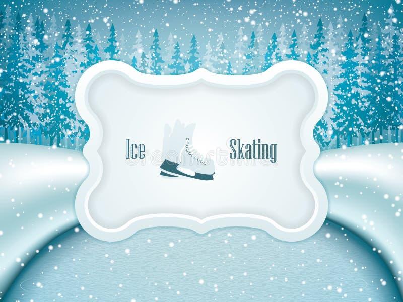 tło lód piękny zimny idzie odizolowywał lekkiej naturalnej łyżwiarskiej białej kobiety royalty ilustracja