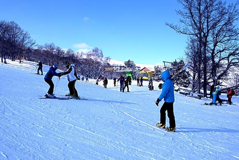 tło lód piękny zimny idzie odizolowywał lekkiej naturalnej łyżwiarskiej białej kobiety obraz royalty free