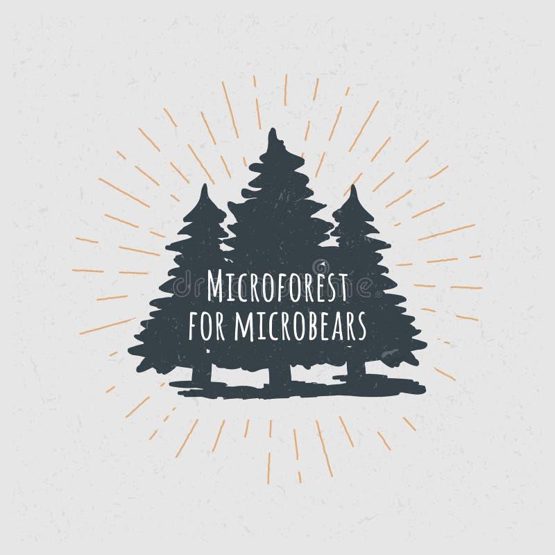 tło lasowi natury śniegu drzewa drewniani sosna świerczyna Typografia projekta Plakatowy pojęcie Set zdjęcie stock