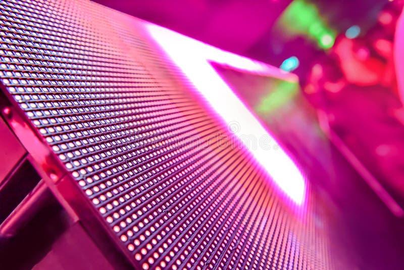 Tło LED soft focus, ściana graficzna Abstract LED Panel wypadająca z ostrości obraz royalty free