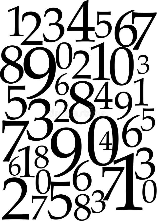 tło liczby ilustracja wektor