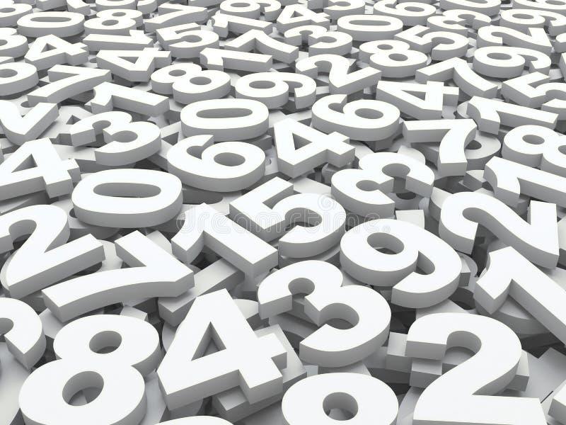 Tło liczby. ilustracji