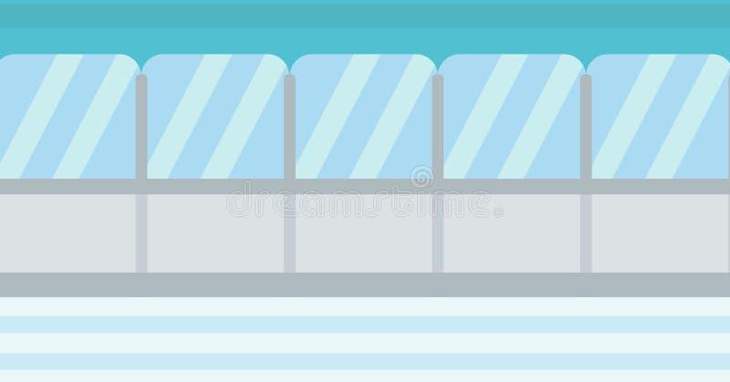 Tło lodowego hokeja stadium ilustracja wektor