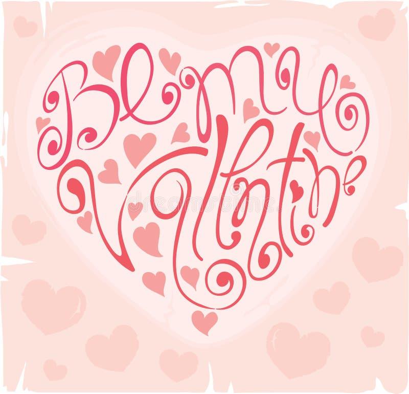 tło mój valentine był ilustracja wektor