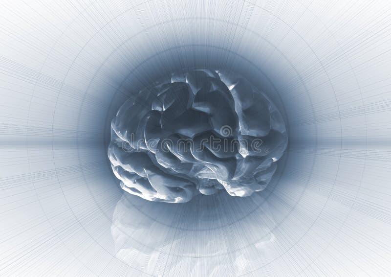 tło mózg royalty ilustracja