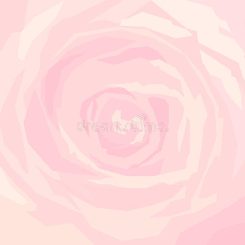 Tło menchii róża w górę royalty ilustracja