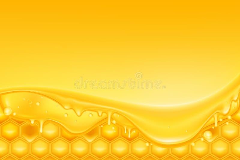 tło miód ilustracja wektor