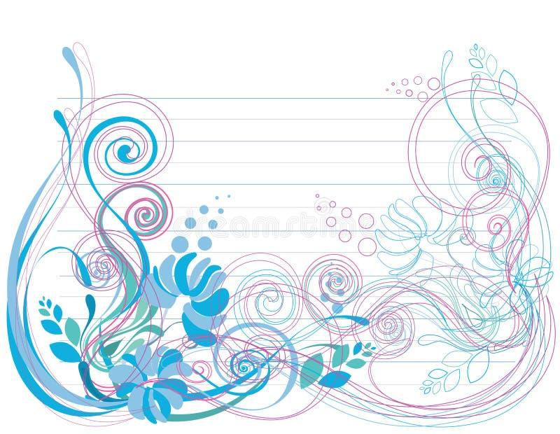tło miękka część błękitny kwiecista zielona ilustracja wektor