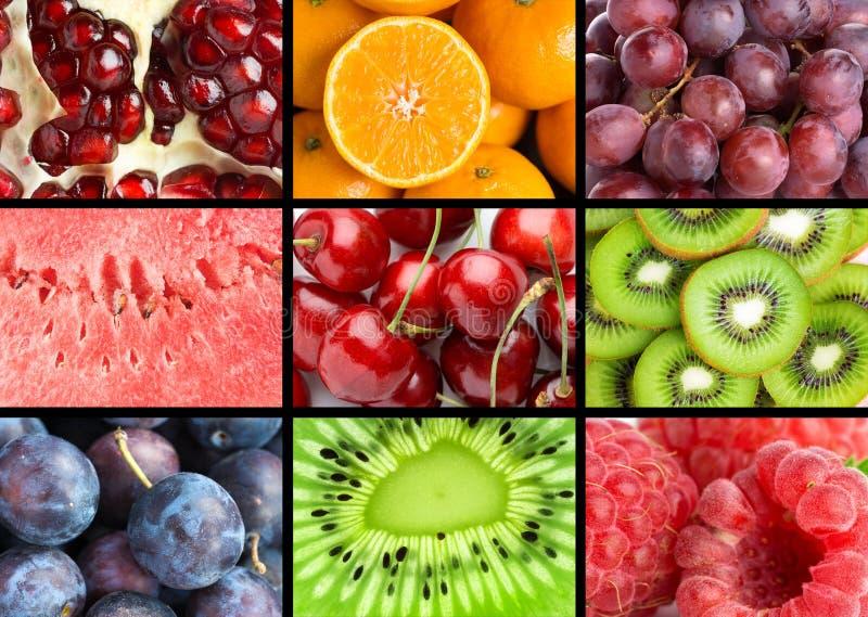 Tło mieszane owoc zdjęcia stock