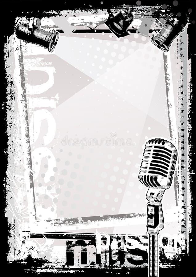 tło mikrofon ilustracji