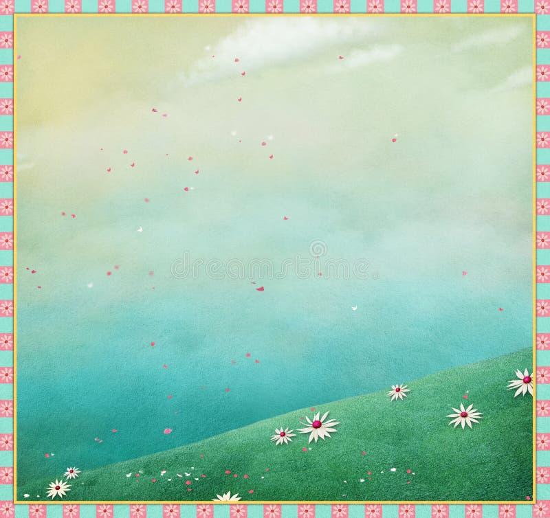 tło mleczy spring pełne meadow żółty ilustracji