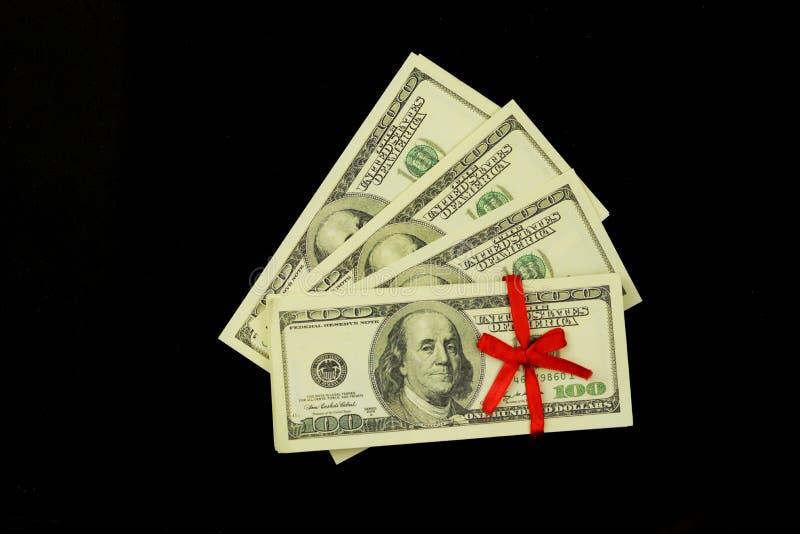 Tło mnóstwo pieniędzy banknoty 100 dolarów obrazy royalty free