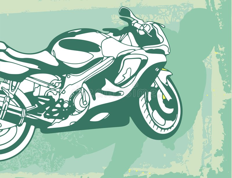 tło motocykla royalty ilustracja
