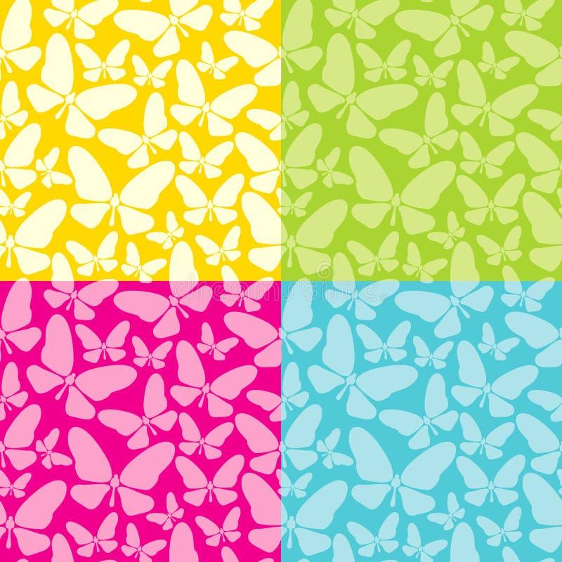 tło motyle cztery royalty ilustracja