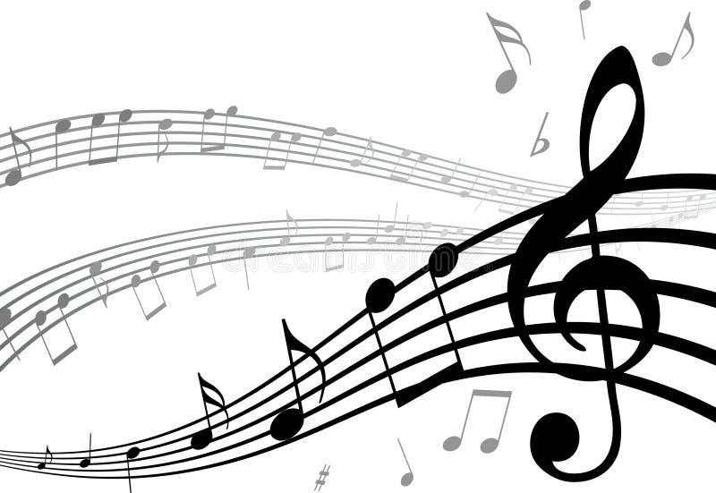 tło musical royalty ilustracja