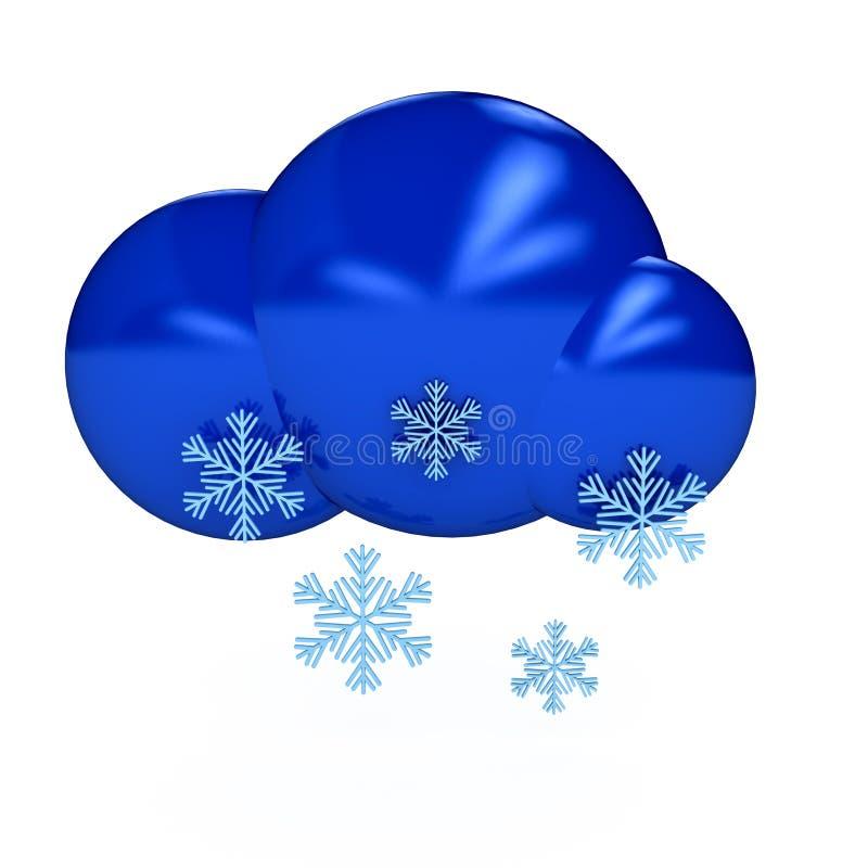tło nad symbolu pogody biel royalty ilustracja