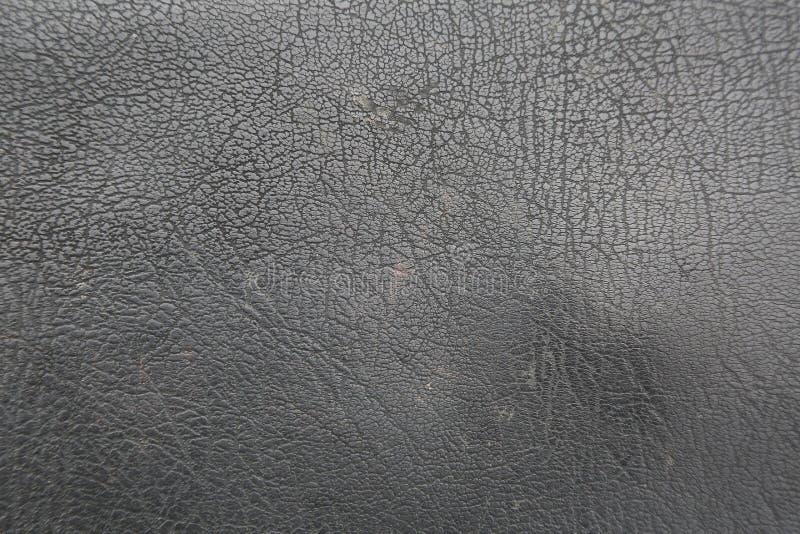 Tło Nawierzchniowa Czarna Rzemienna tekstura obrazy stock