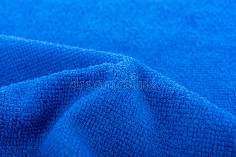 Tło niebieskich tkanin z mikrowłókien obraz stock