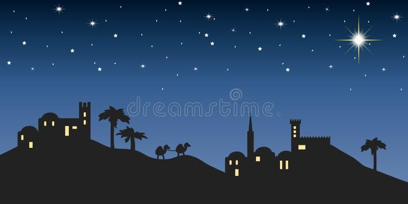 Tło noc Bethlehem