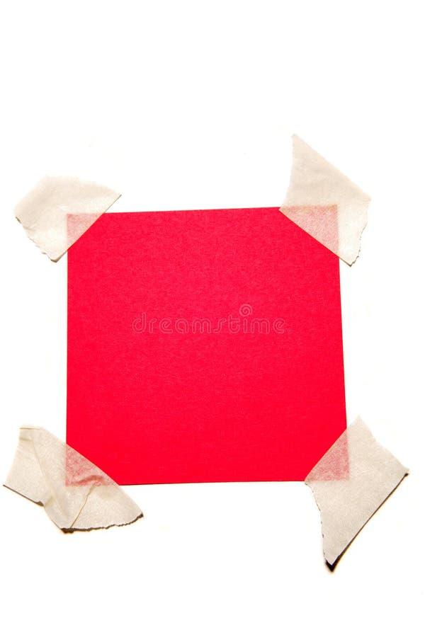 tło notatki czerwony biel fotografia royalty free