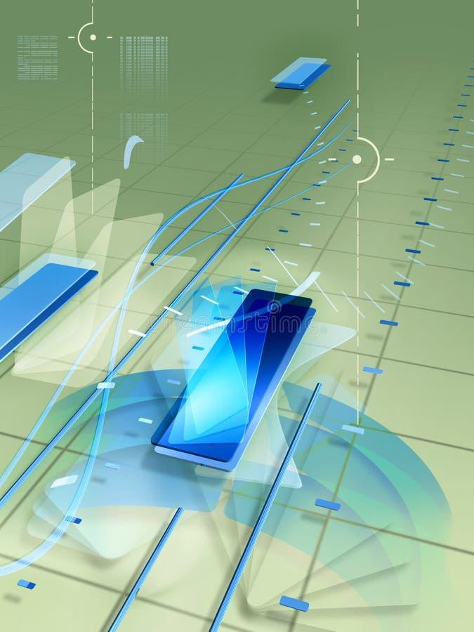 tło nowoczesna technologia ilustracja wektor