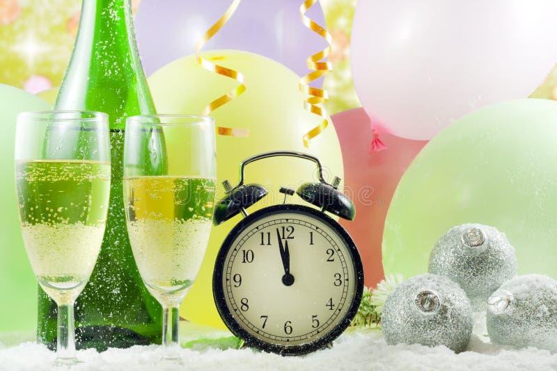 tło nowy rok zegarowy szczęśliwy fotografia royalty free
