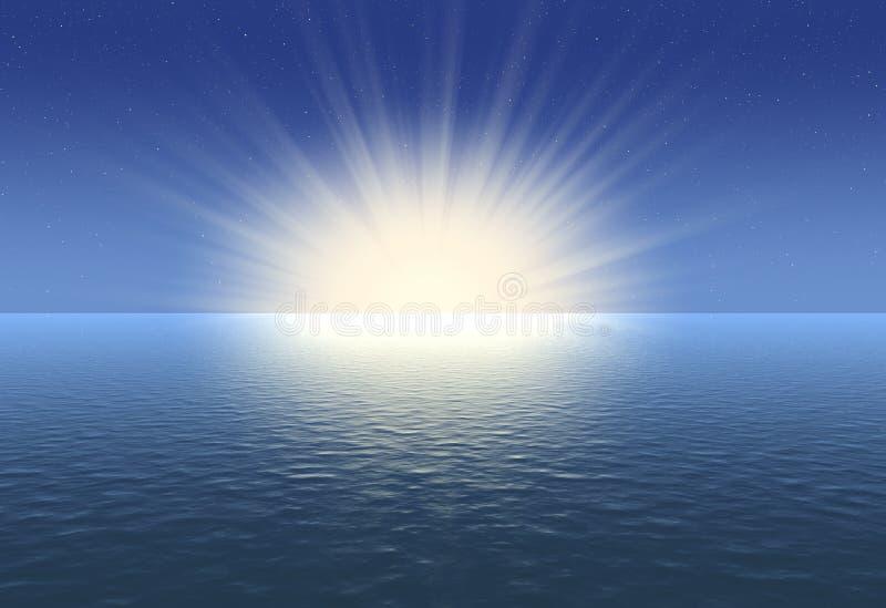 tło o wschodzie słońca ilustracji
