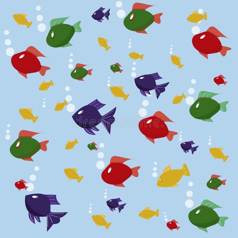 Tło obrazek z ryba ilustracja wektor