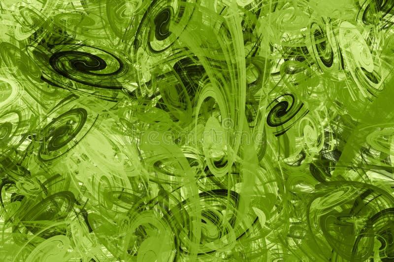 Tło od coloured chaotycznych spiral zdjęcia royalty free