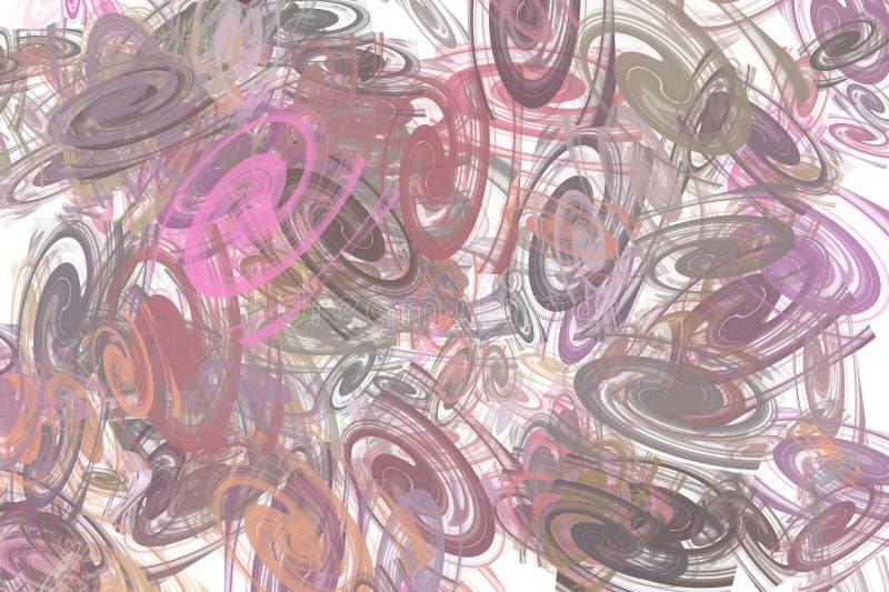 Tło od coloured chaotycznych spiral zdjęcie stock
