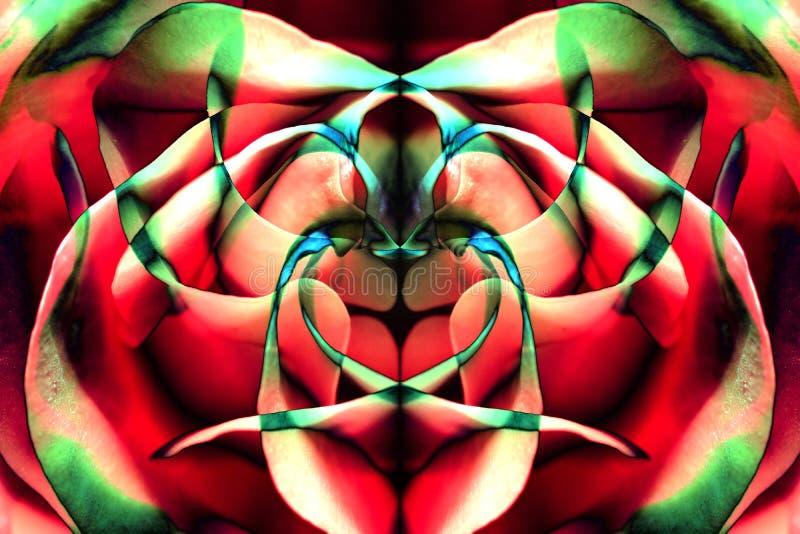 Tło od kolor palety różani płatki i odbicia royalty ilustracja