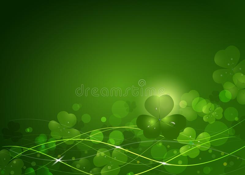 Tło od liści koniczyna St Patrick ` s dzień ilustracji