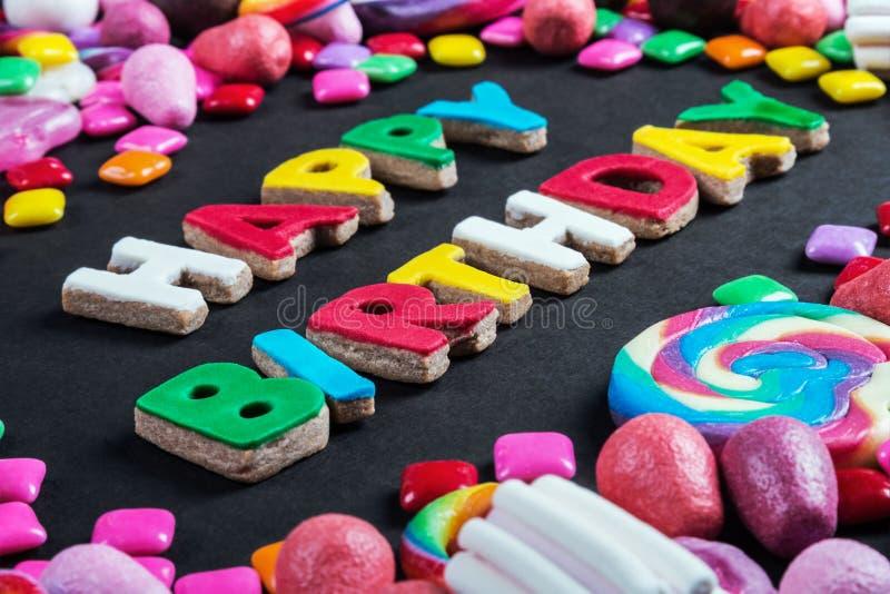 Tło od rozmaitości cukierki, lizaki, guma do żucia, candie obrazy royalty free