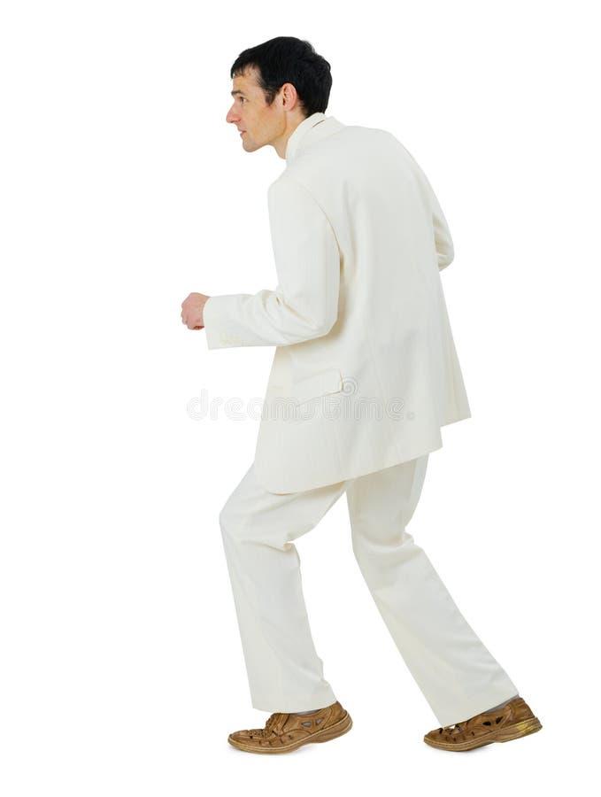 tło odizolowywający mężczyzna odizolowywać biel obrazy stock
