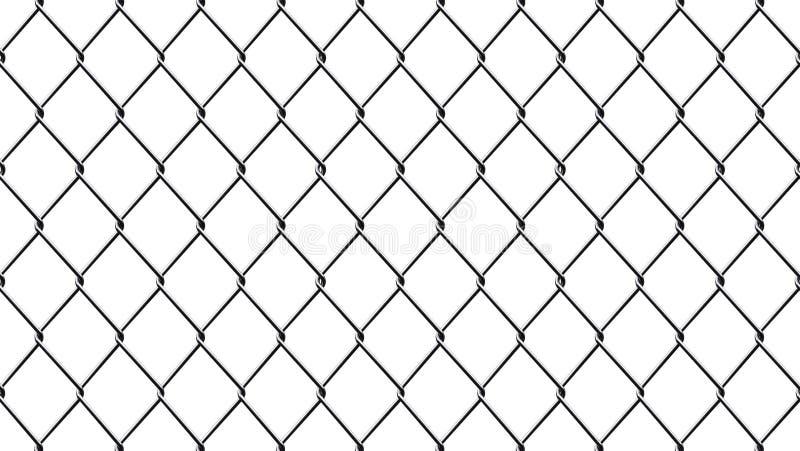 Tło odizolowywający na białym tle metal siatka ilustracji