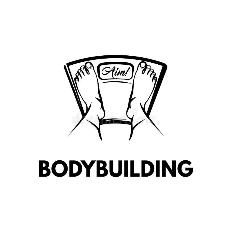 tło odizolowywający nad skala target2666_0_ biel feign Bodybuilding literowanie również zwrócić corel ilustracji wektora ilustracji