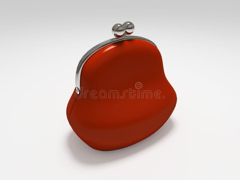 tło odosobnionej torebkę czerwony white royalty ilustracja