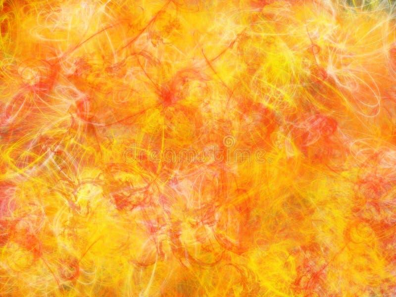 tło ogień royalty ilustracja