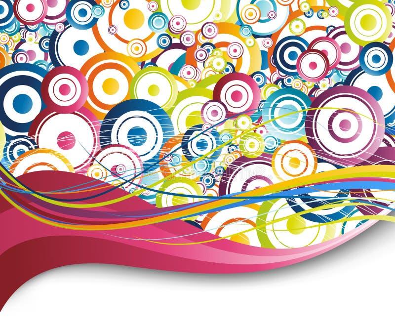 tło okrąża kolorową tęczę ilustracja wektor