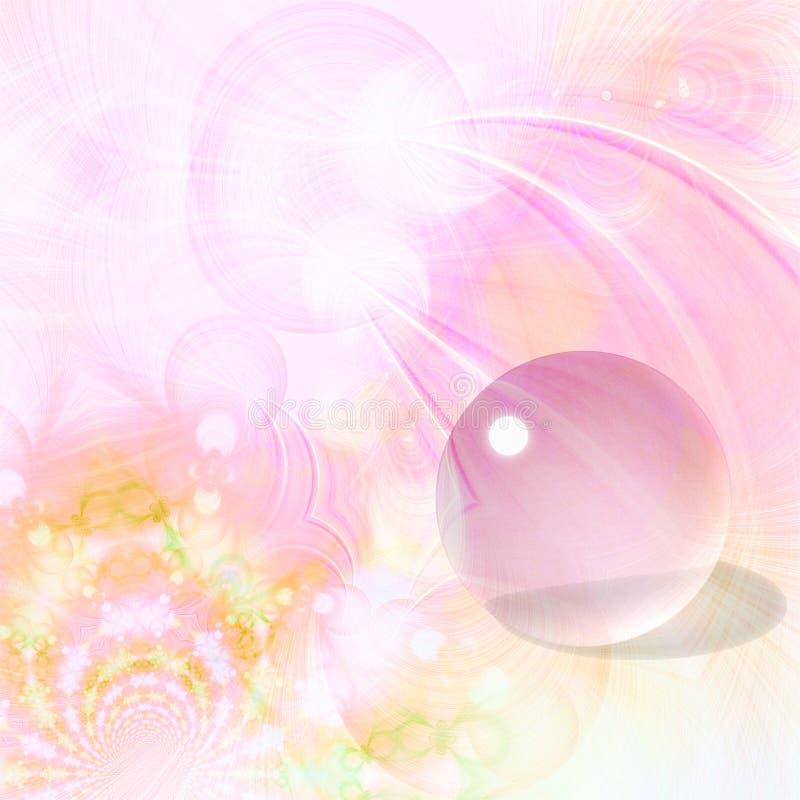 tło okrąg piękny szklany royalty ilustracja