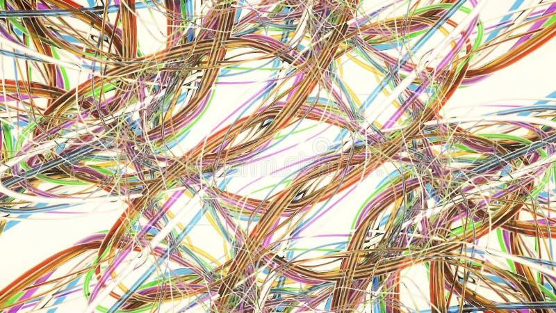 Tło, olśniewające energii fala ilustracji