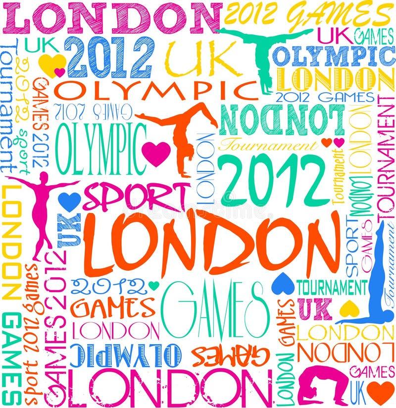 tło olimpijski ilustracja wektor