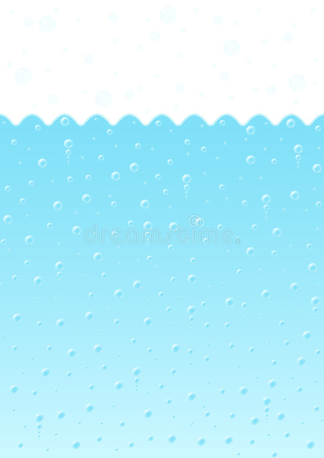 tło pęcherzyków wodą ilustracja wektor