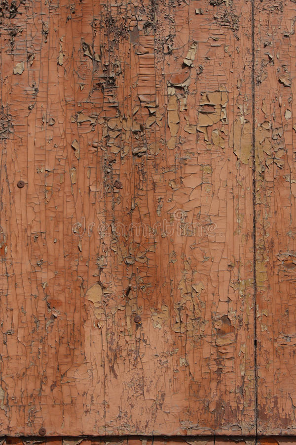 tło pękająca farby tekstura drewniana fotografia stock