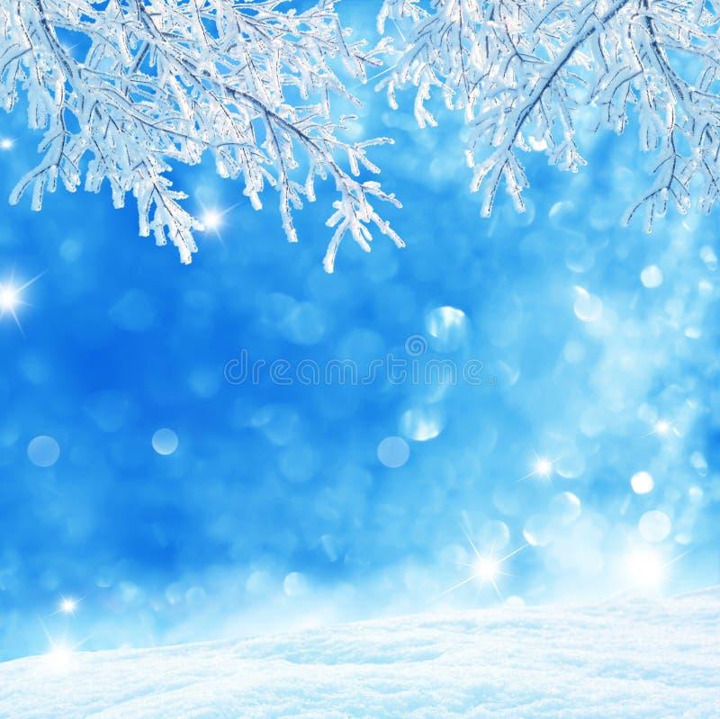 tło płatków śniegu biały niebieska zima