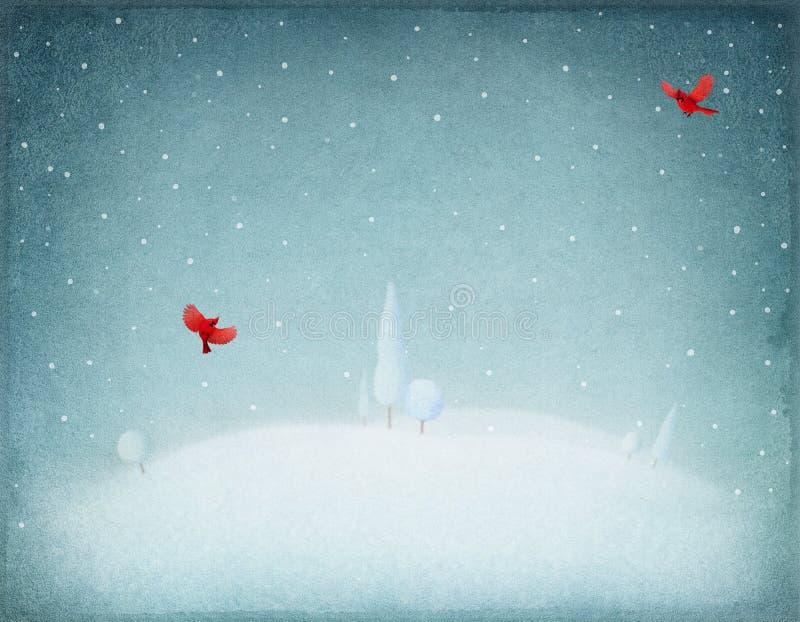 tło płatków śniegu biały niebieska zima ilustracja wektor
