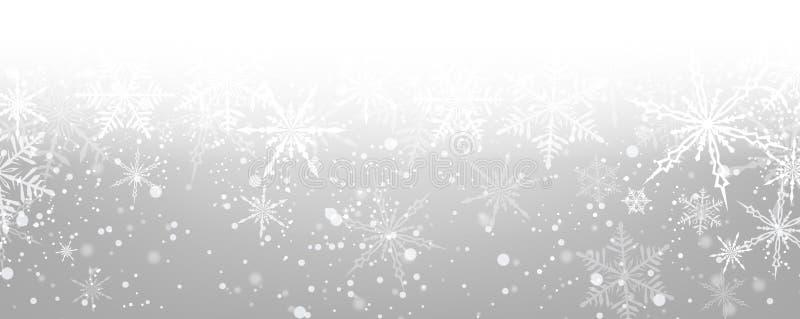 tło płatków śniegu biały niebieska zima royalty ilustracja