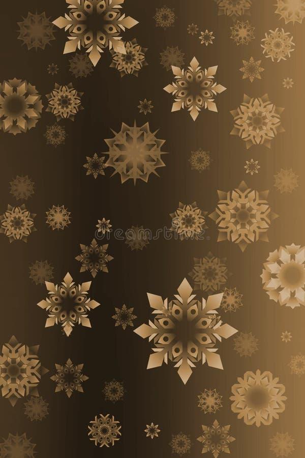 tło płatków śniegu roczne royalty ilustracja